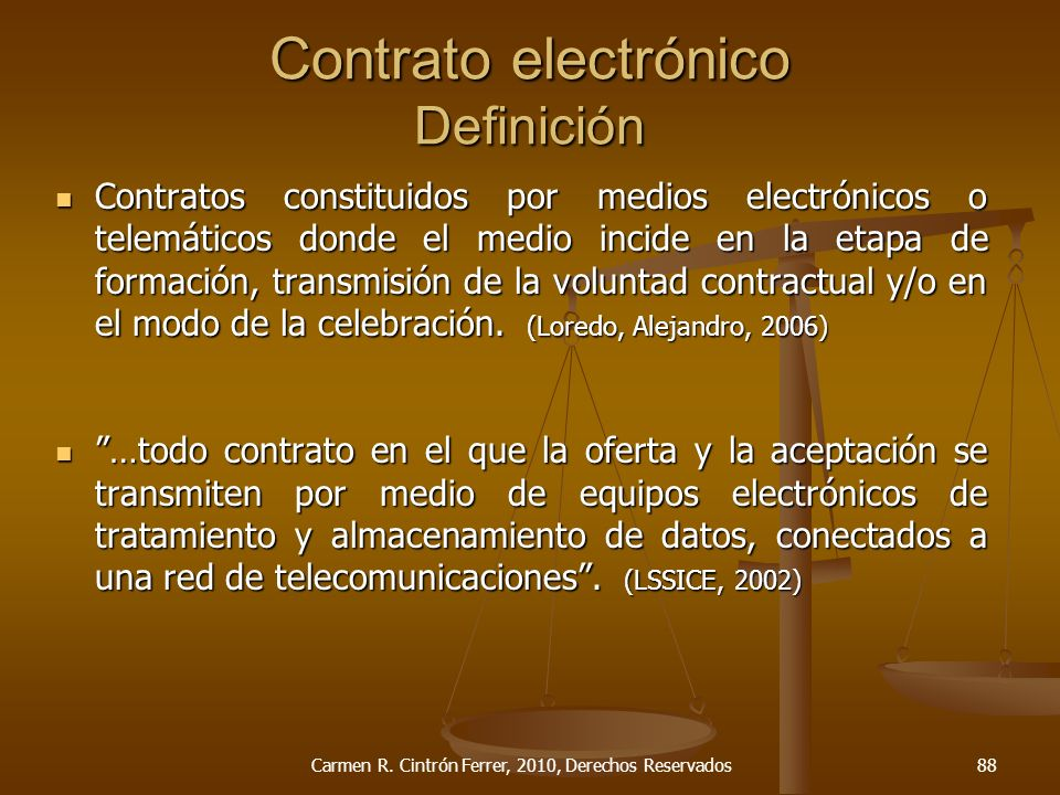 Contrato electrónico Definición