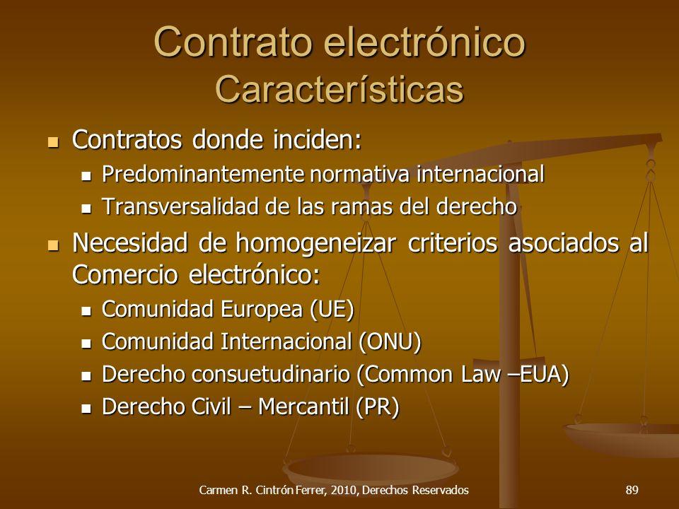 Contrato electrónico Características