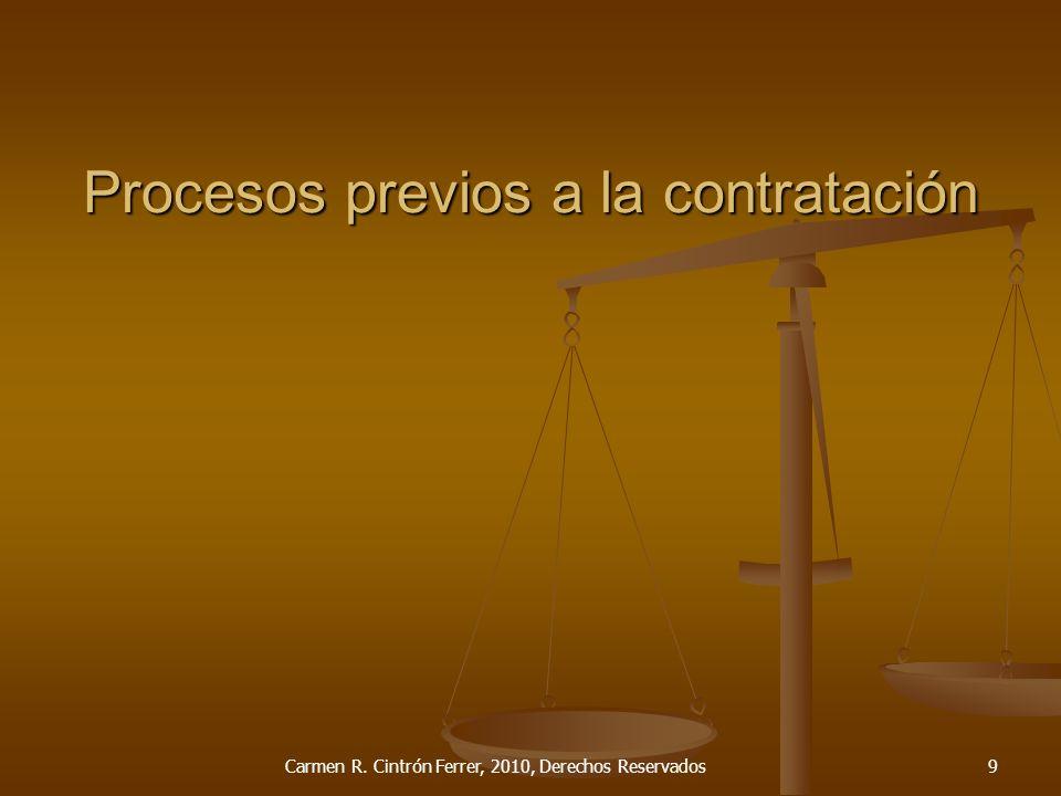 Procesos previos a la contratación