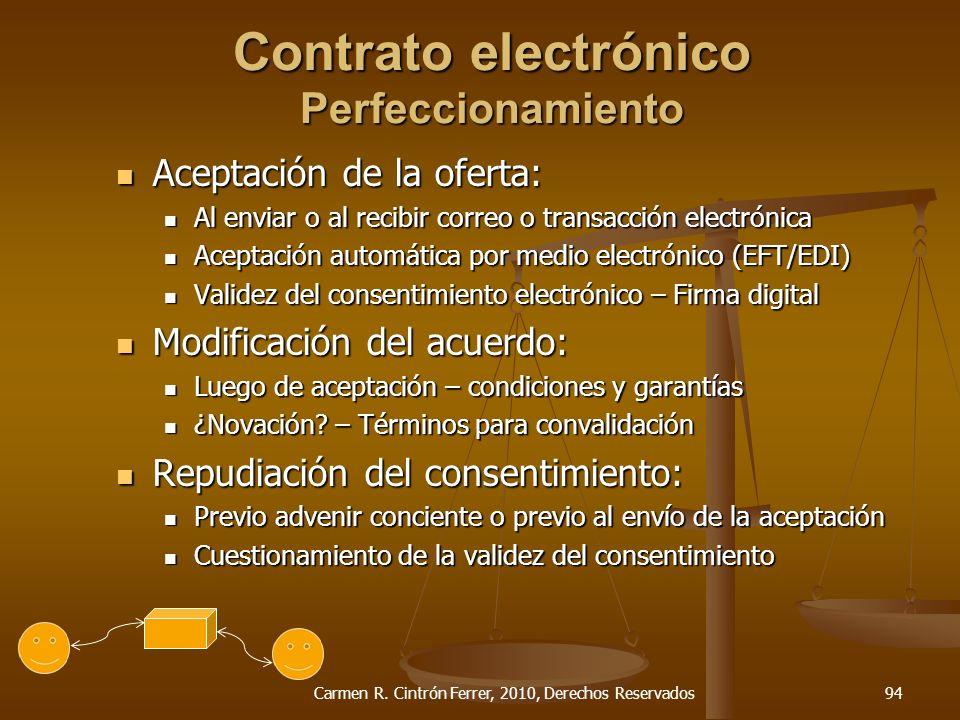 Contrato electrónico Perfeccionamiento