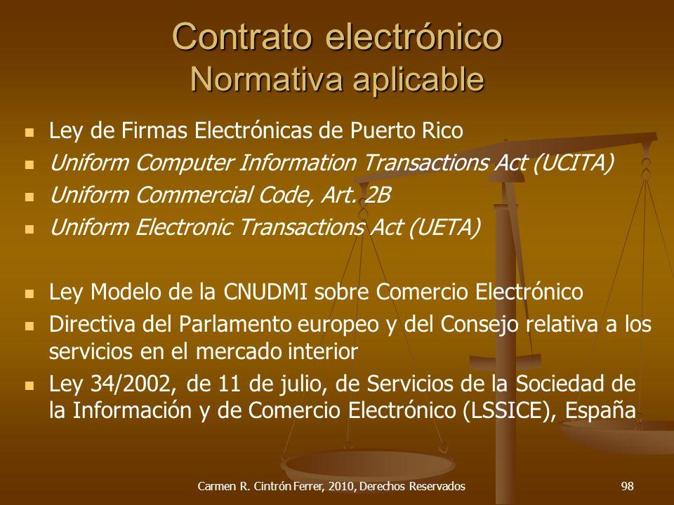 Contrato electrónico Normativa aplicable