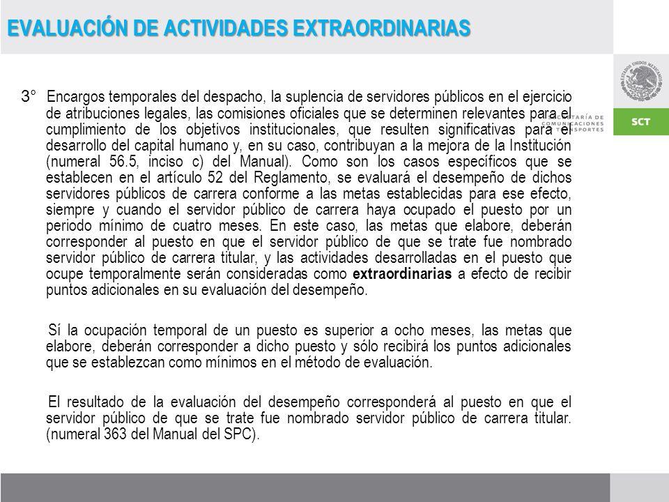 EVALUACIÓN DE ACTIVIDADES EXTRAORDINARIAS