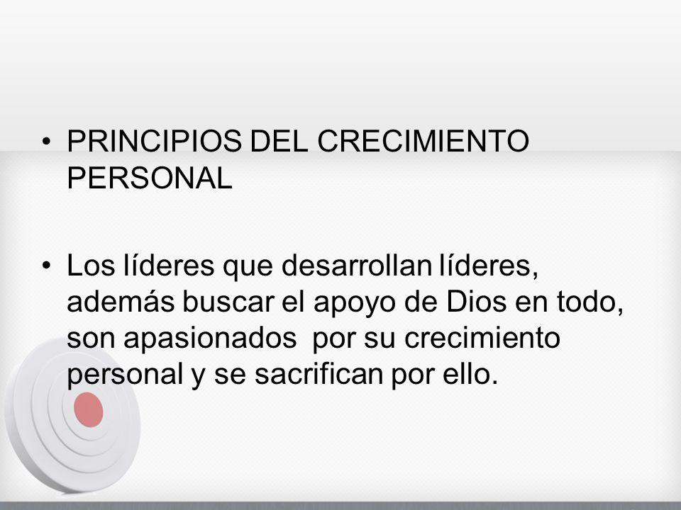 PRINCIPIOS DEL CRECIMIENTO PERSONAL