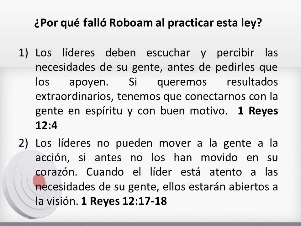 ¿Por qué falló Roboam al practicar esta ley