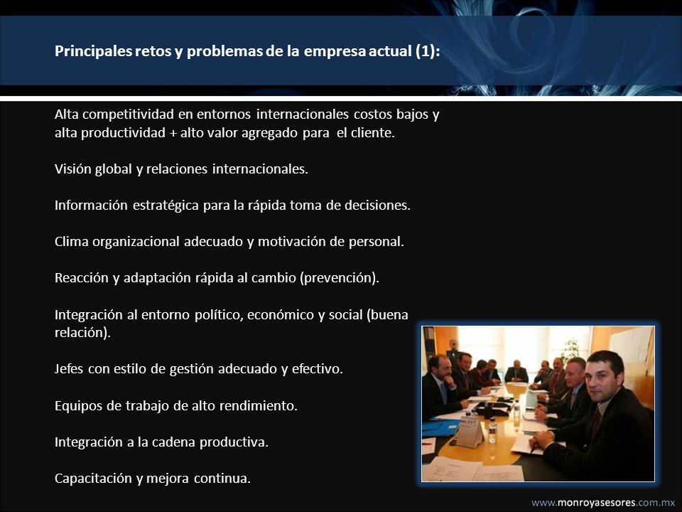 Principales retos y problemas de la empresa actual (1):