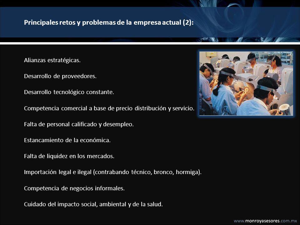 Principales retos y problemas de la empresa actual (2):