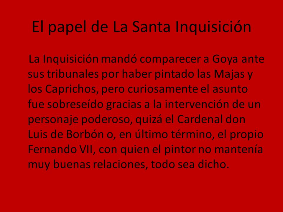 El papel de La Santa Inquisición