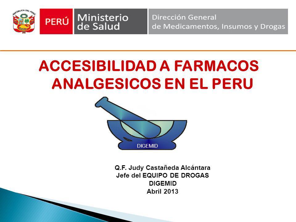 ACCESIBILIDAD A FARMACOS ANALGESICOS EN EL PERU