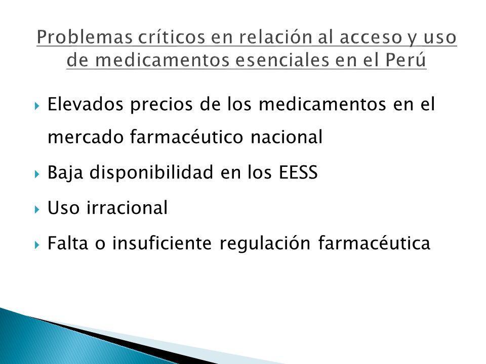 Problemas críticos en relación al acceso y uso de medicamentos esenciales en el Perú
