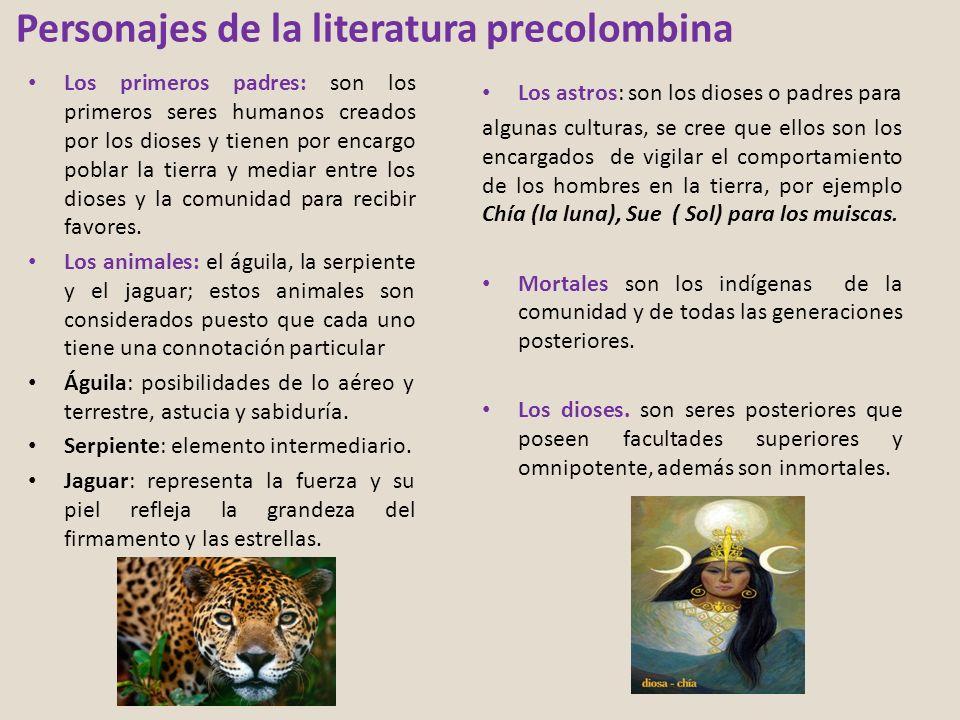 Personajes de la literatura precolombina
