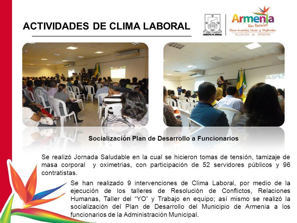 Socialización Plan de Desarrollo a Funcionarios