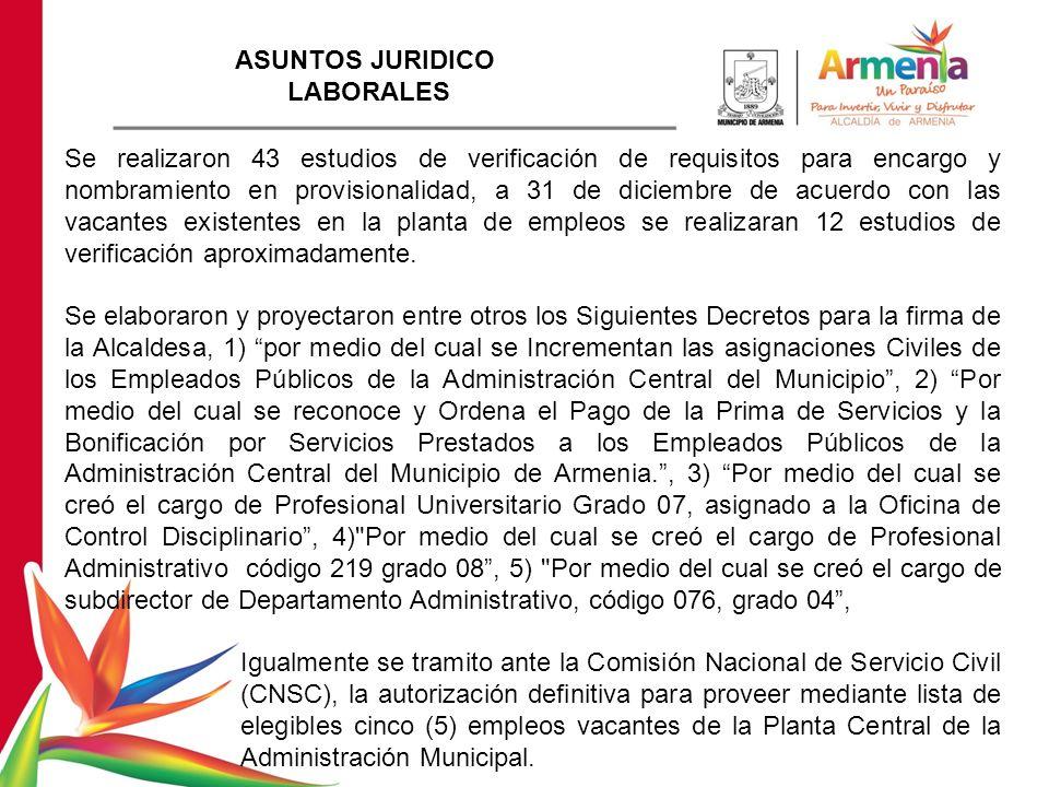 ASUNTOS JURIDICO LABORALES.
