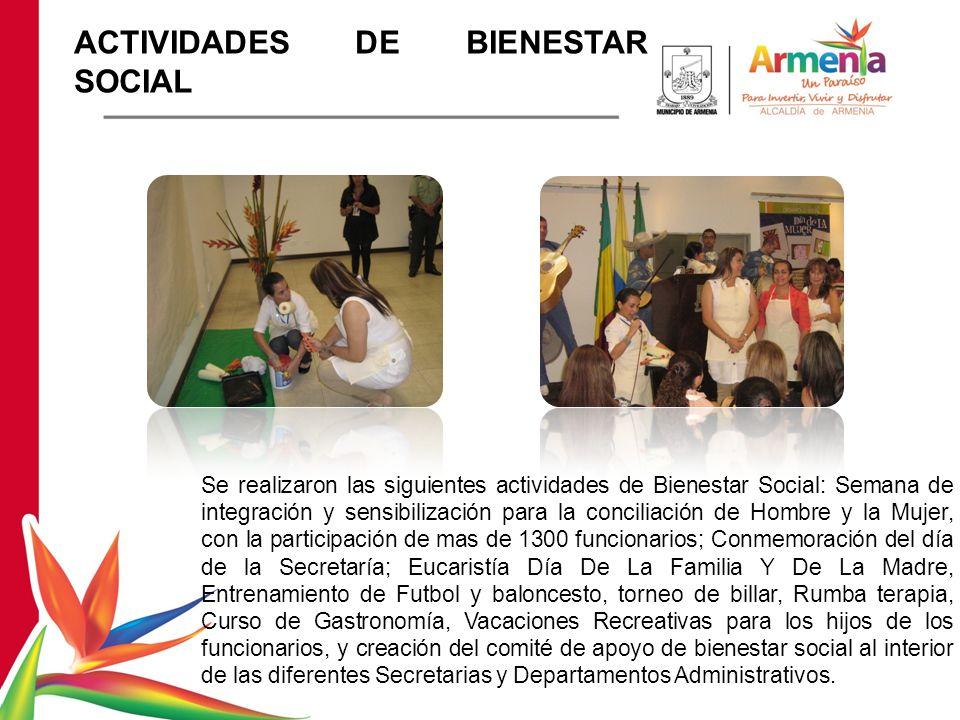 ACTIVIDADES DE BIENESTAR SOCIAL