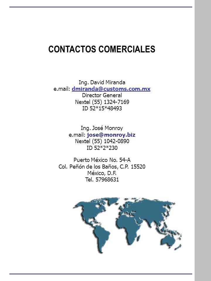 CONTACTOS COMERCIALES