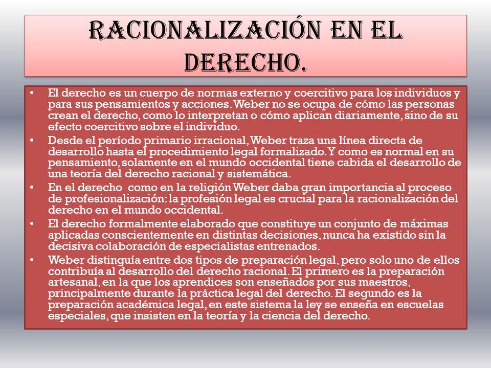 RACIONALIZACIÓN EN EL DERECHO.