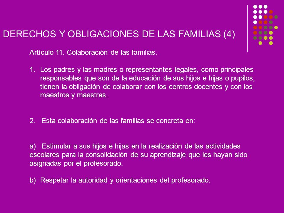 DERECHOS Y OBLIGACIONES DE LAS FAMILIAS (4)