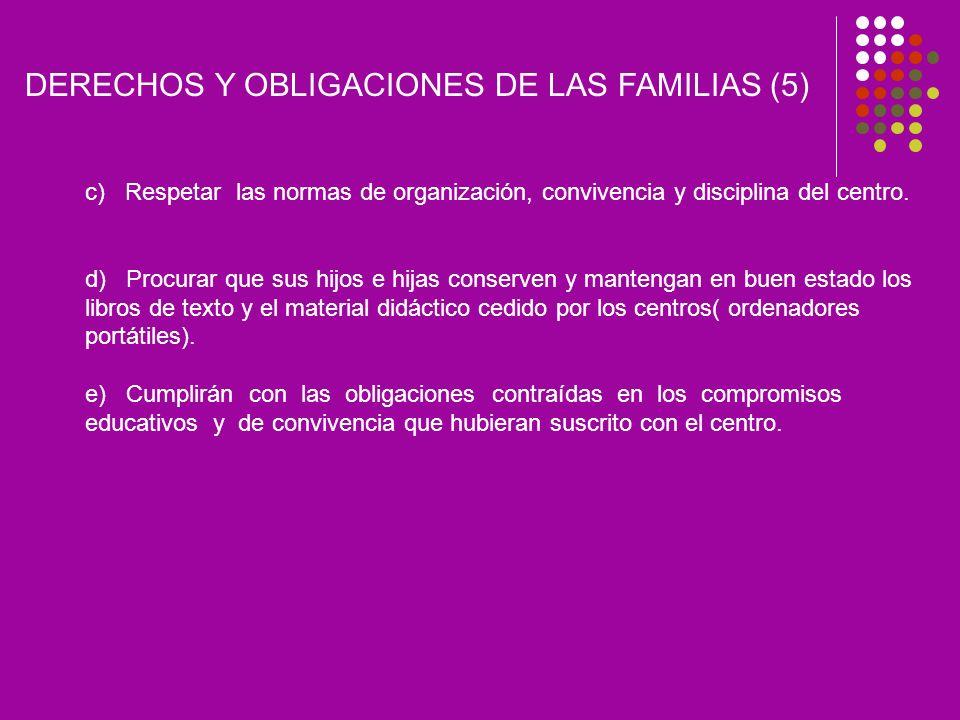 DERECHOS Y OBLIGACIONES DE LAS FAMILIAS (5)