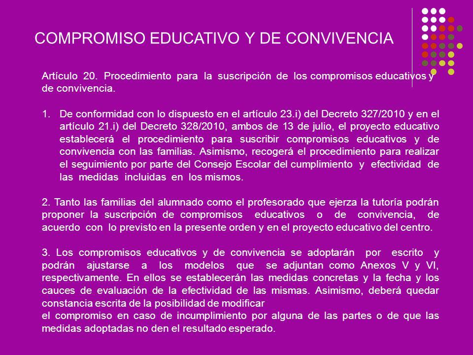 COMPROMISO EDUCATIVO Y DE CONVIVENCIA