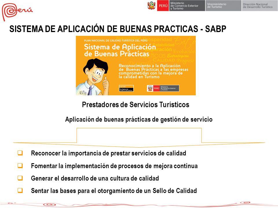 SISTEMA DE APLICACIÓN DE BUENAS PRACTICAS - SABP