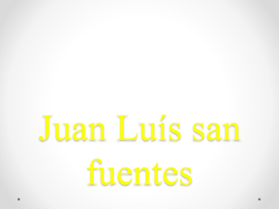 Juan Luís san fuentes