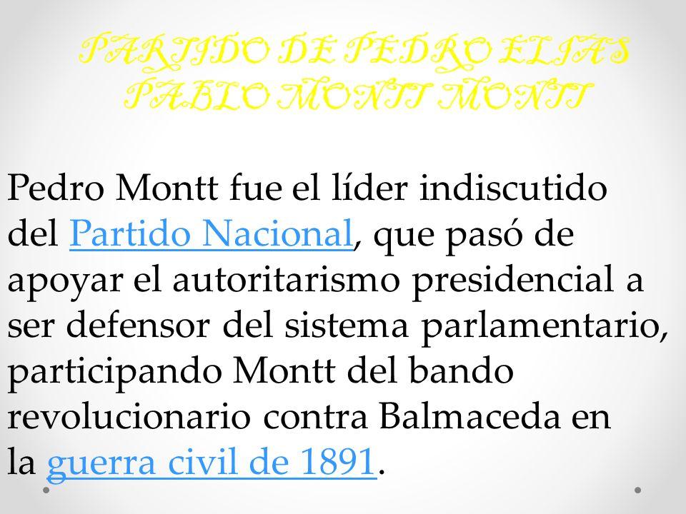 PARTIDO DE PEDRO ELIAS PABLO MONTT MONTT