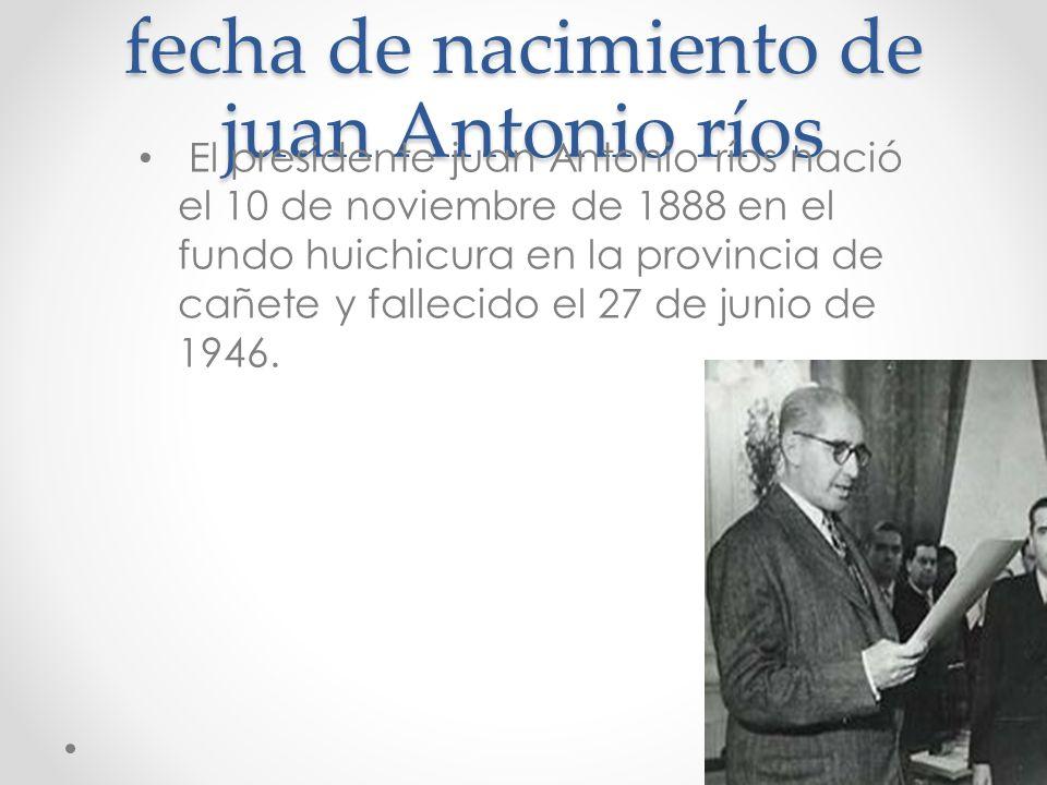 fecha de nacimiento de juan Antonio ríos