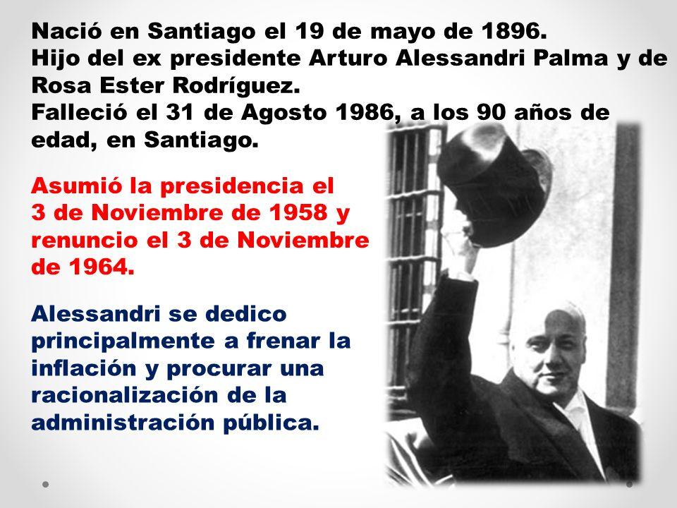 Nació en Santiago el 19 de mayo de 1896.