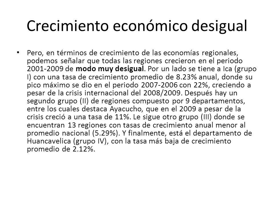 Crecimiento económico desigual