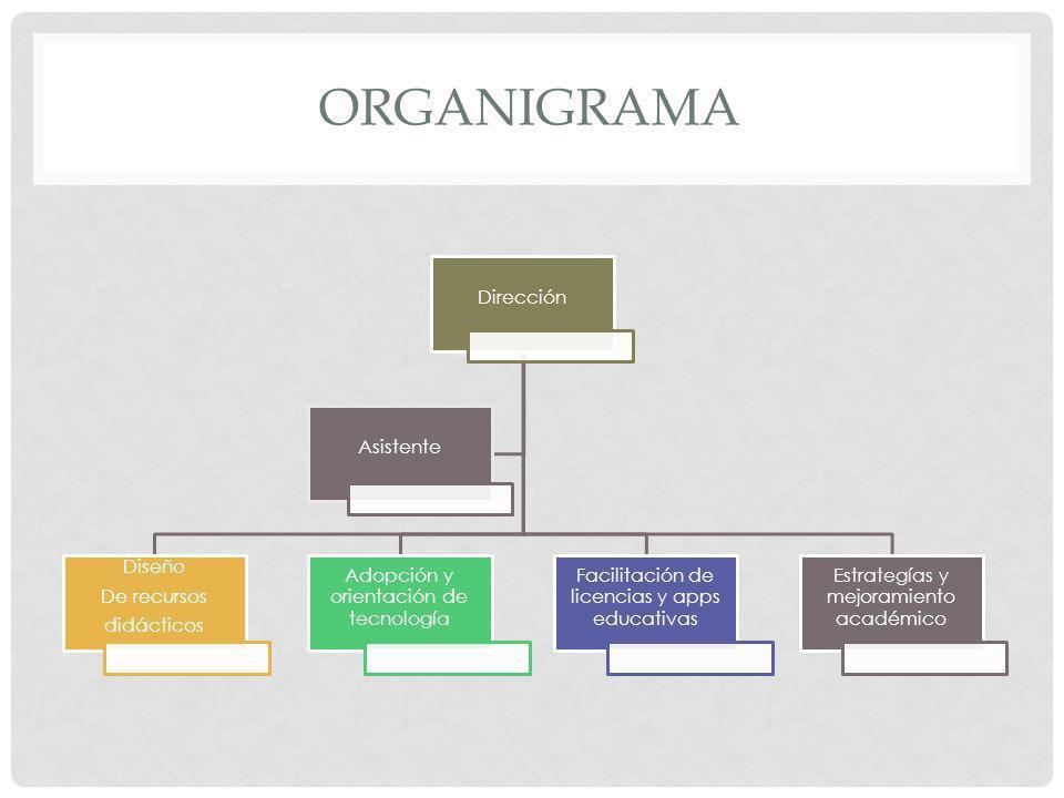 Organigrama Dirección Diseño De recursos didácticos