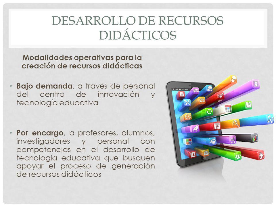 Desarrollo de recursos didácticos