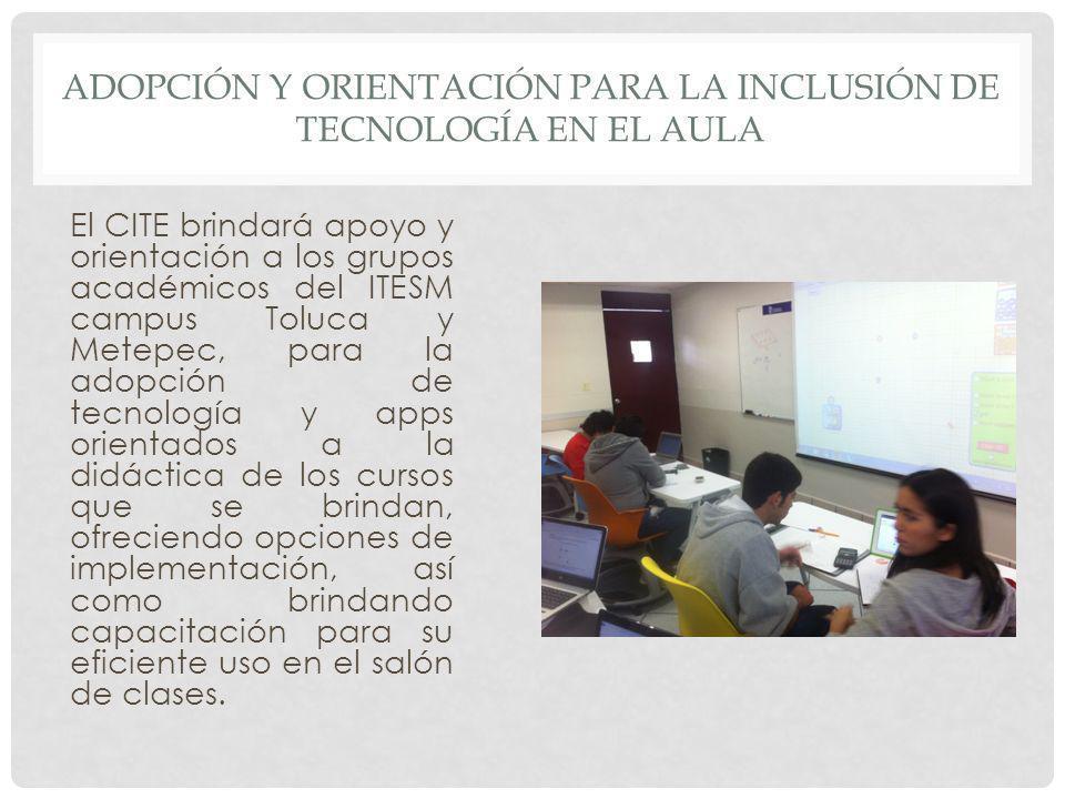 Adopción y orientación para la inclusión de tecnología en el aula
