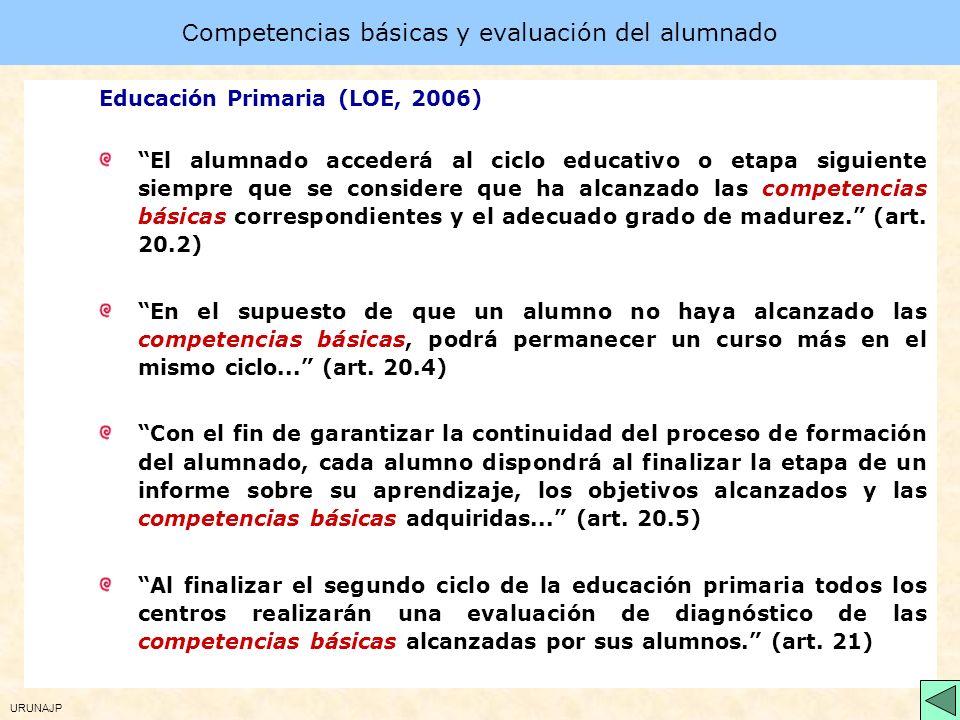 Competencias básicas y evaluación del alumnado