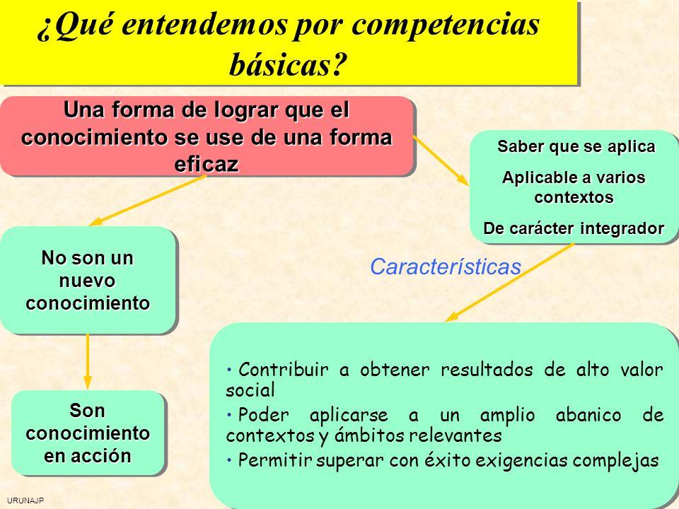 ¿Qué entendemos por competencias básicas