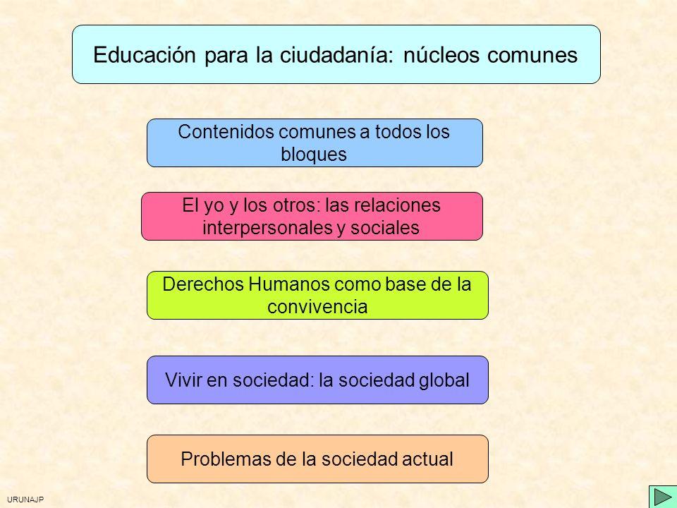 Educación para la ciudadanía: núcleos comunes