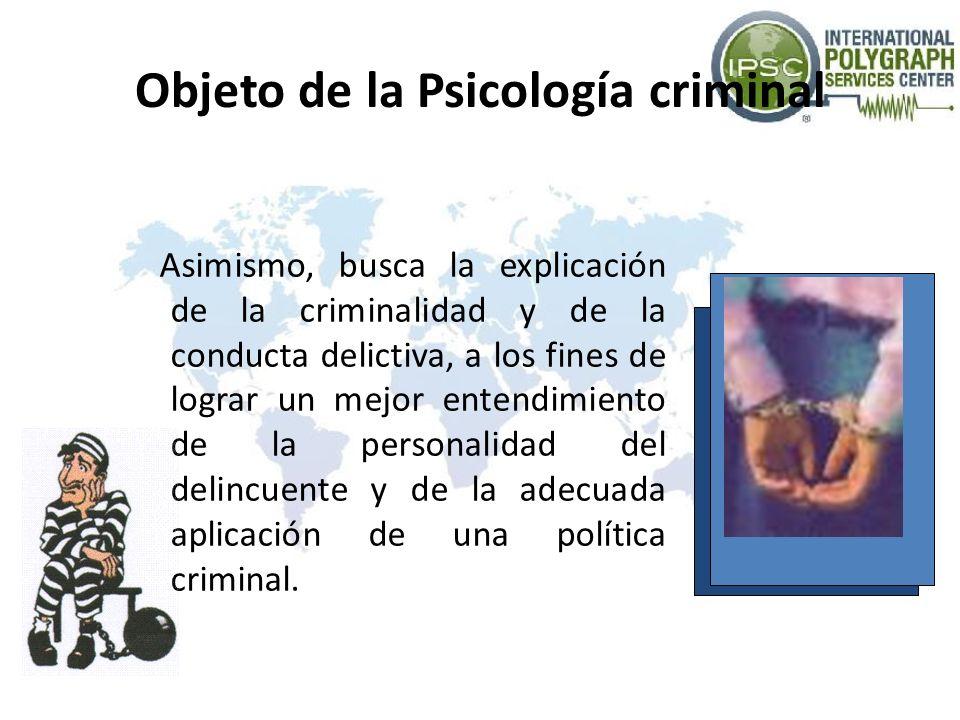 Objeto de la Psicología criminal