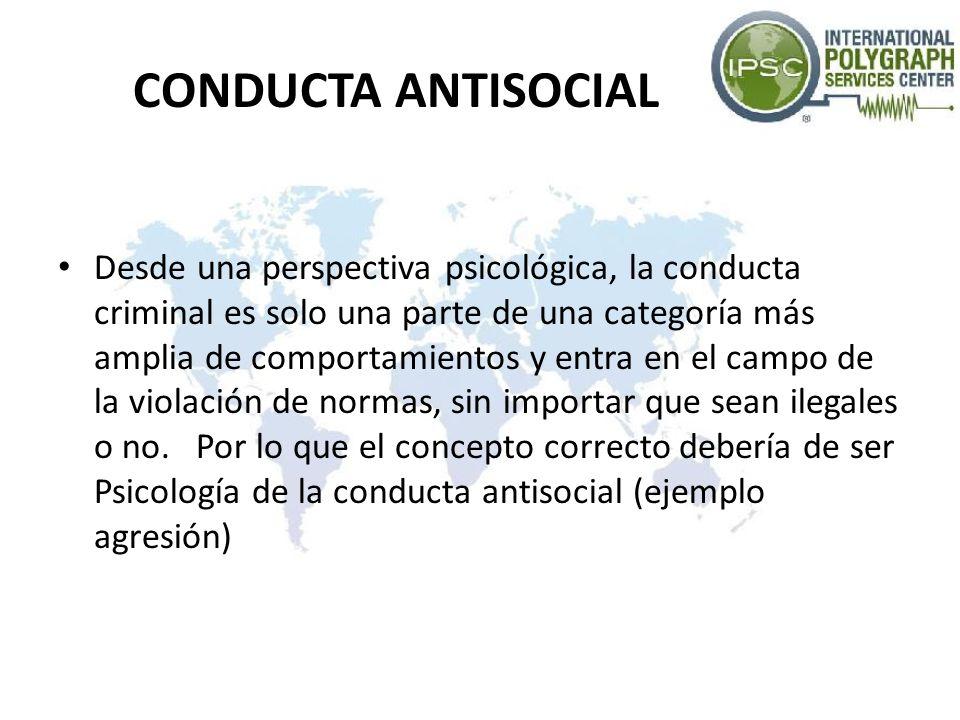 CONDUCTA ANTISOCIAL