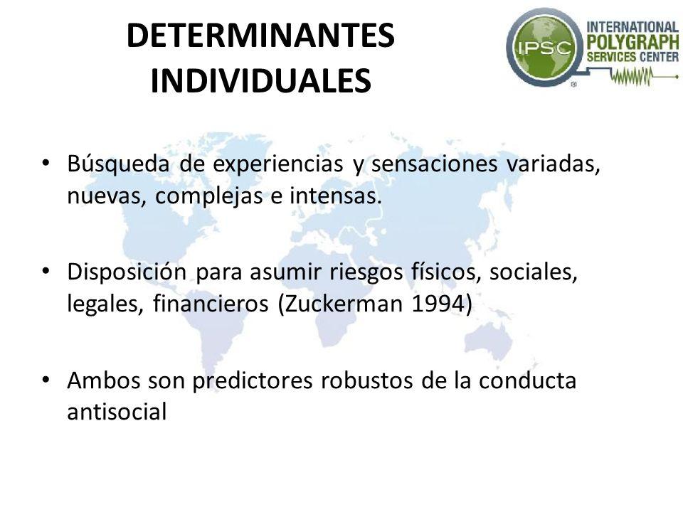 DETERMINANTES INDIVIDUALES