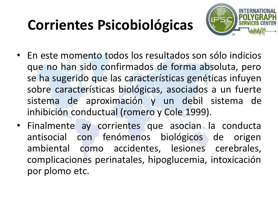 Corrientes Psicobiológicas