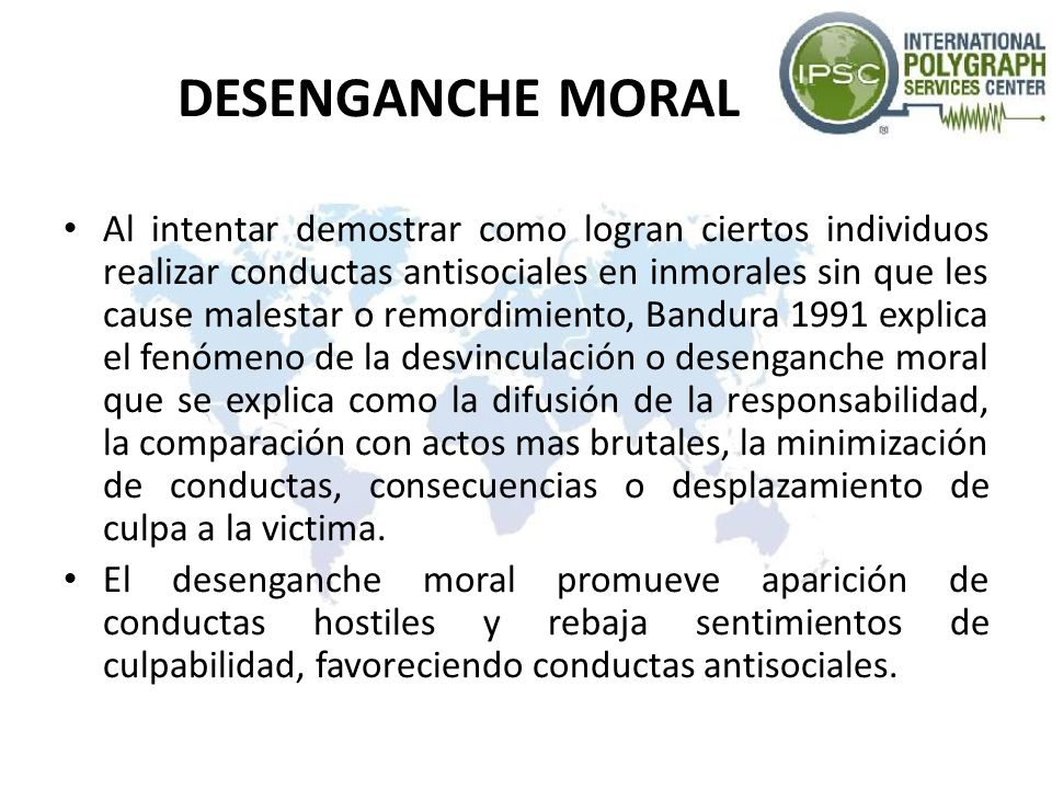 DESENGANCHE MORAL