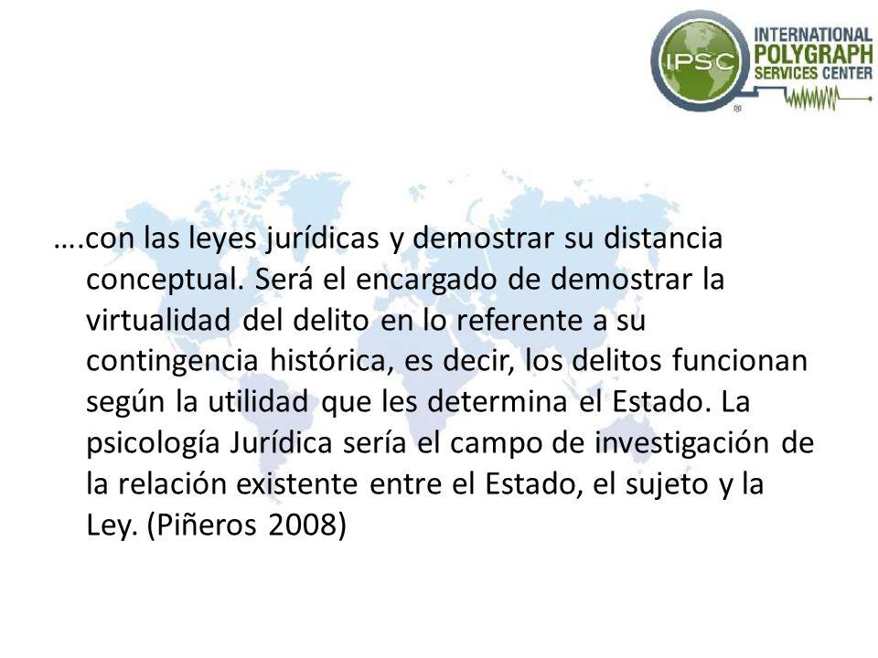 …. con las leyes jurídicas y demostrar su distancia conceptual