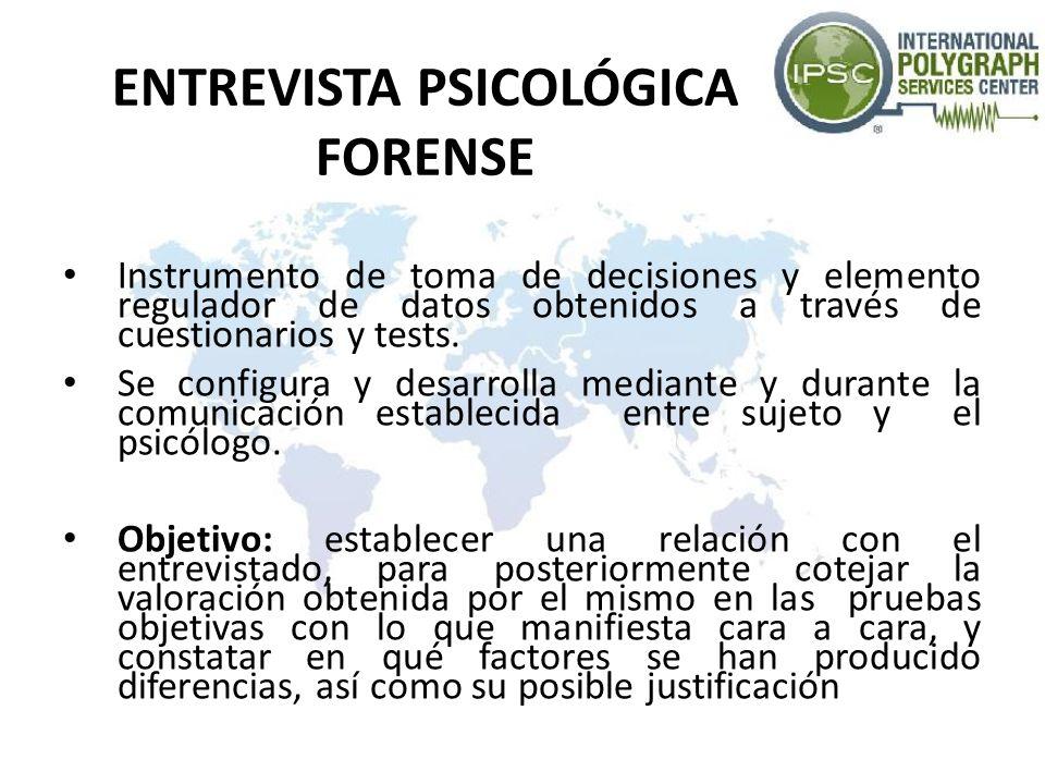 ENTREVISTA PSICOLÓGICA FORENSE
