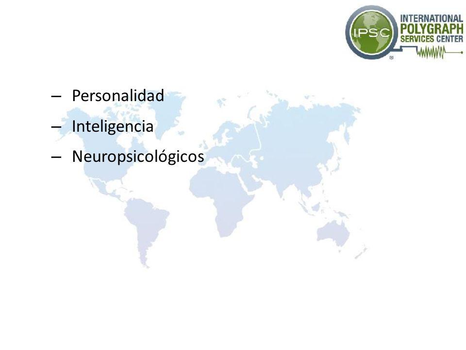 Personalidad Inteligencia Neuropsicológicos