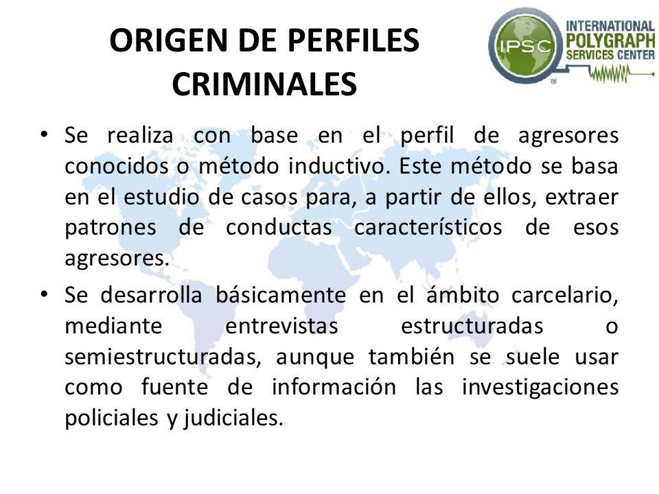 ORIGEN DE PERFILES CRIMINALES