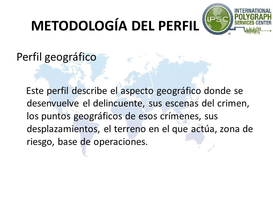METODOLOGÍA DEL PERFIL