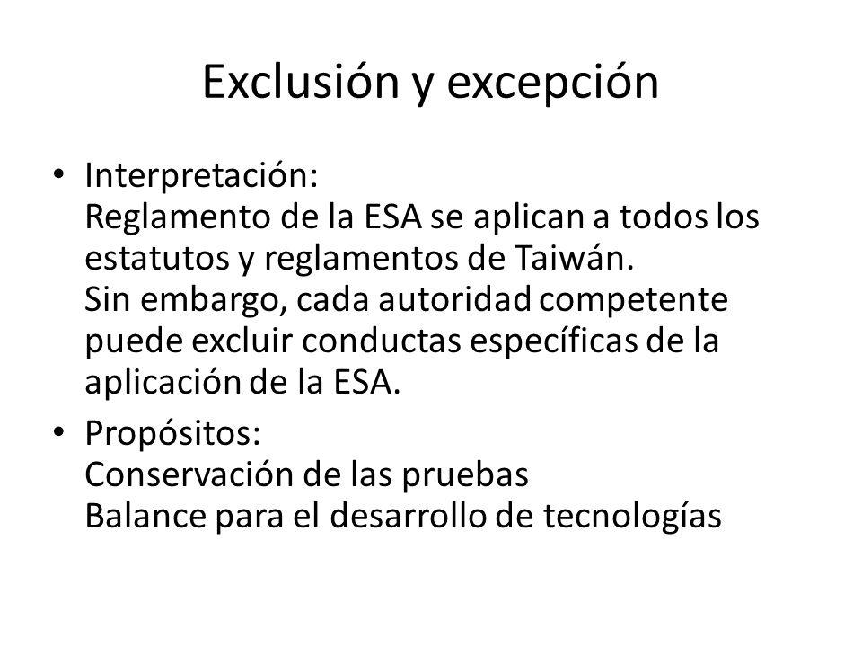 Exclusión y excepción