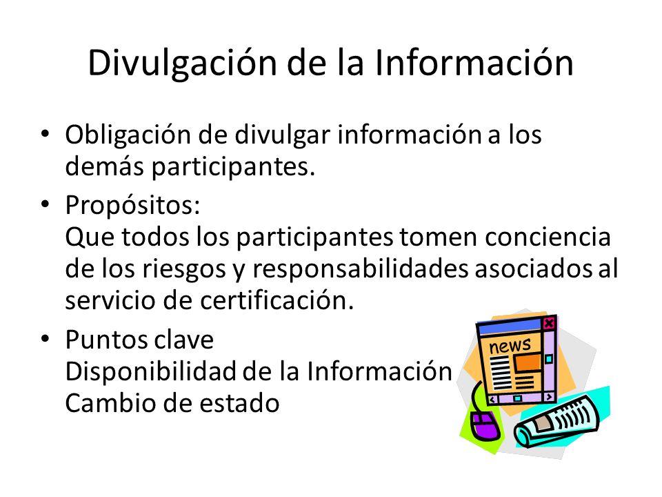 Divulgación de la Información