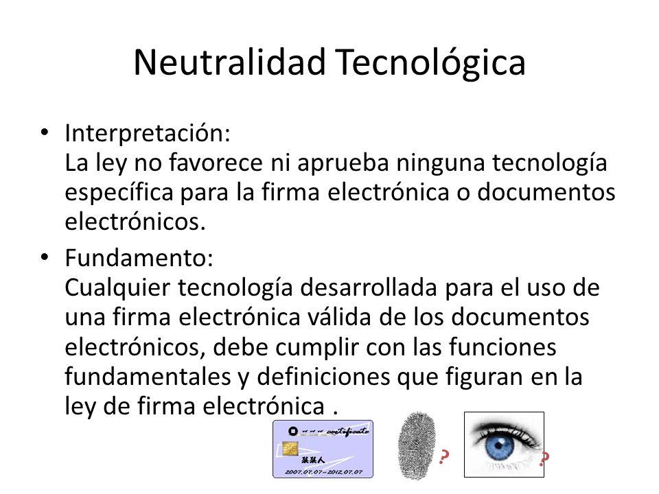 Neutralidad Tecnológica