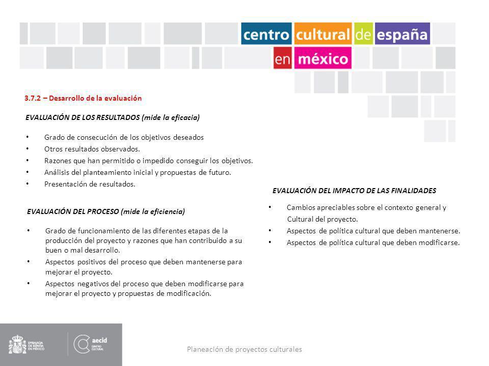 Planeación de proyectos culturales