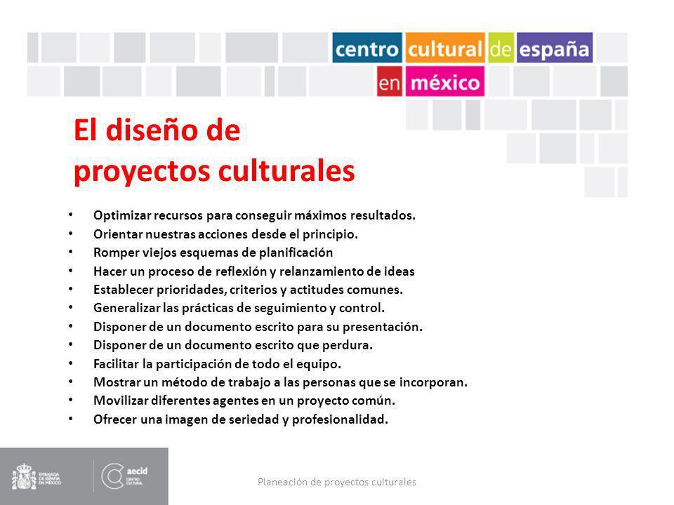 El diseño de proyectos culturales