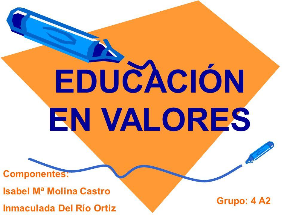 EDUCACIÓN EN VALORES Componentes: Isabel Mª Molina Castro